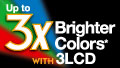 Bright 3-LCD colours